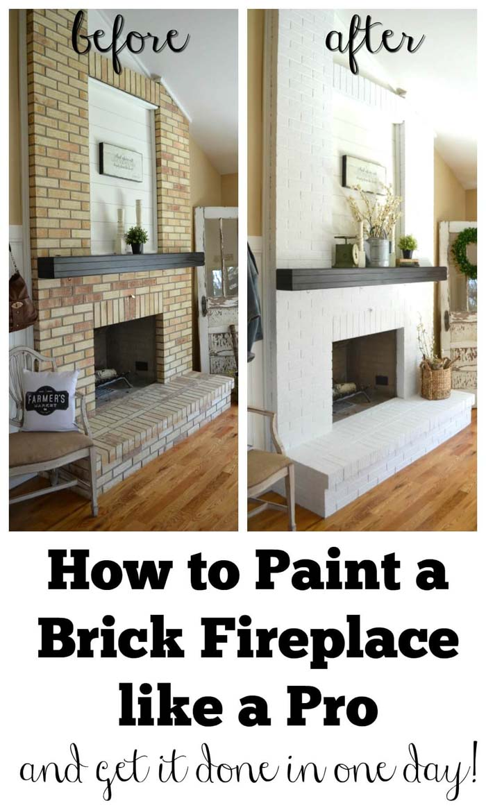 The One-Day Fireplace Makeover Hack #livingroommakeovers #decorhomeideas