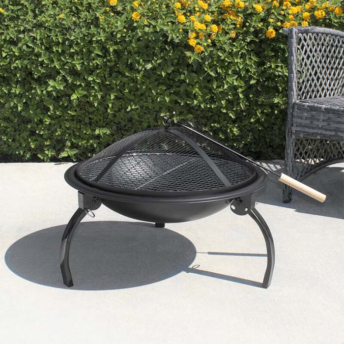 Valentine Cheap Outdoor Fire Pit With Lid