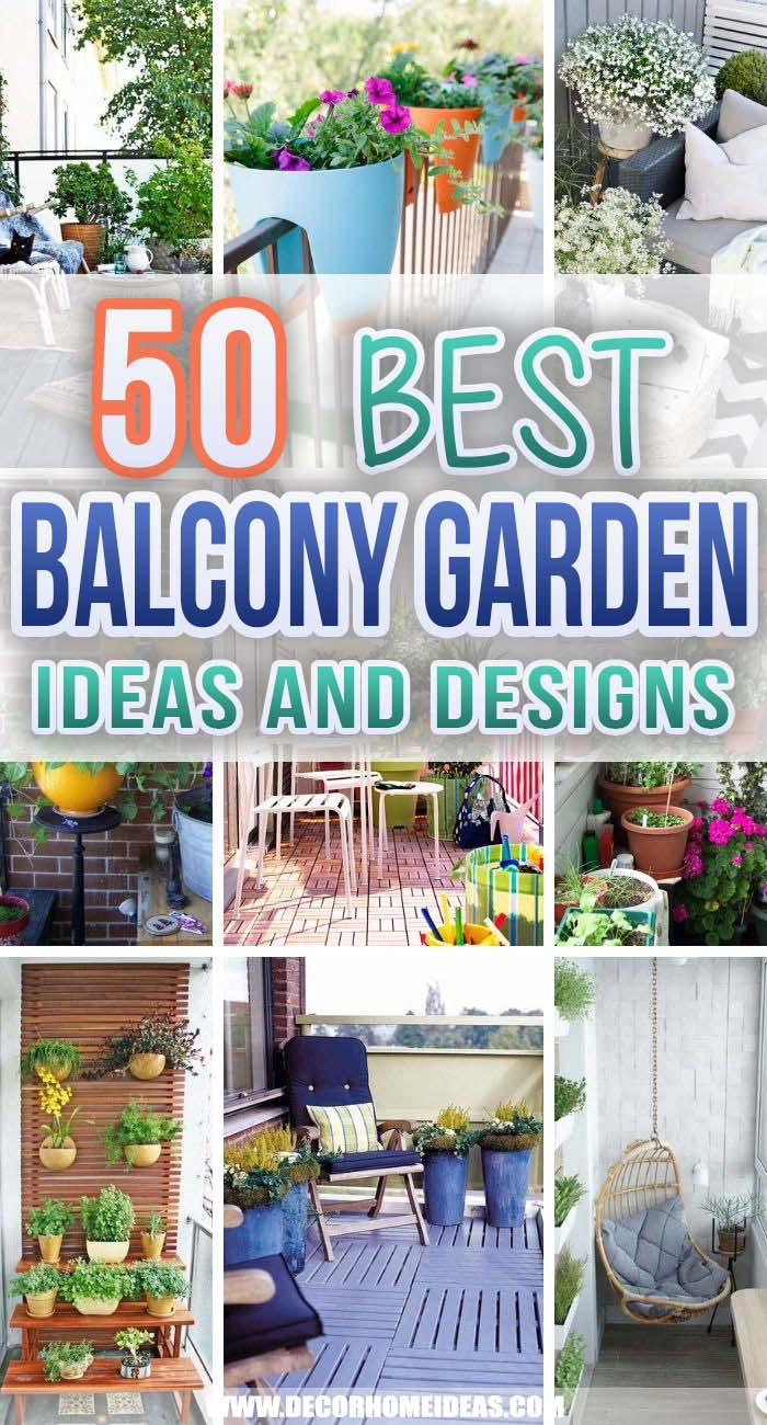 Best Balcony Garden Ideas. Get creative with these inspiring balcony ideas and give your compact space the attention it deserves while keeping its functionality and appeal. #decorhomeideas