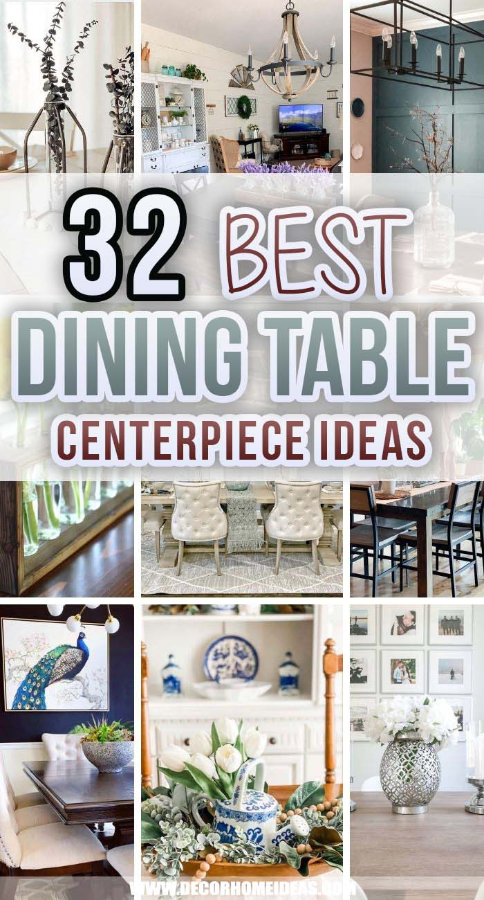 Best Dining Table Centerpiece Ideas. These dining room centerpiece ideas are sure to liven up your space no matter the time of year. From evergreen DIYs to vintage-inspired wares, these ideas are sure to inspire. #decorhomeideas