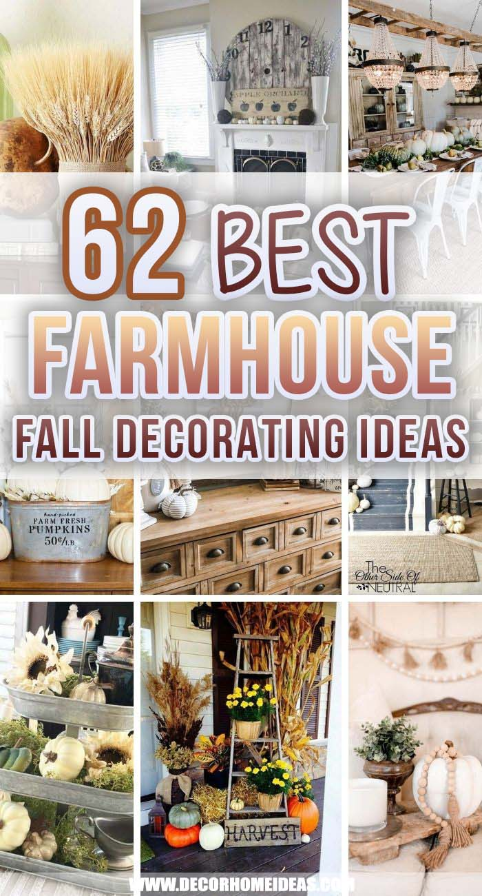 Best Farmhouse Fall Decorating Ideas. Get ready for the fall season with these farmhouse fall decorating ideas and add more warmth and charm to your home. #decorhomeideas