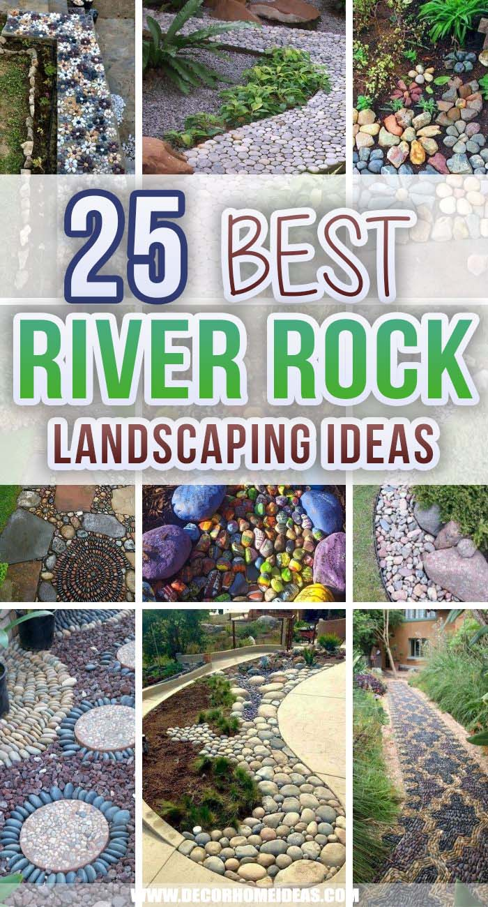 Best River Rock Landscaping Ideas. Spruce up your garden or backyard with these fantastic river rock landscaping ideas. They are easy to do and won't break the bank as you can use river rocks for free. #decorhomeideas