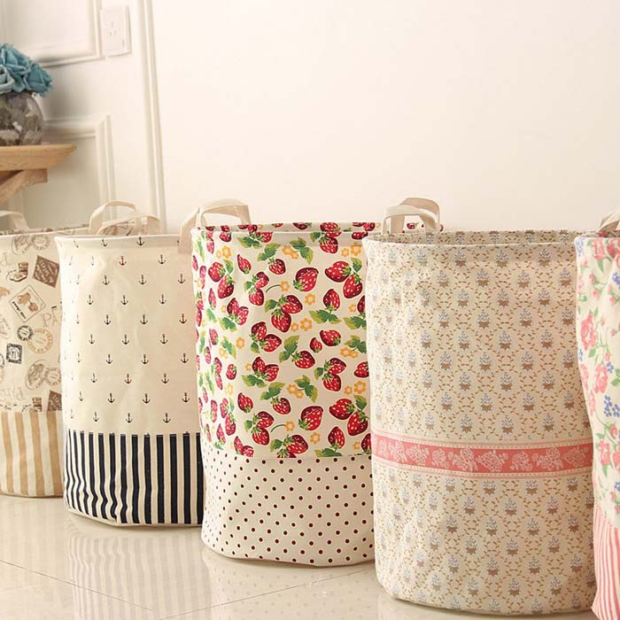 Easy DIY Vintage Storage Baskets Made from Vintage Linens #vintage #storageideas #decorhomeideas