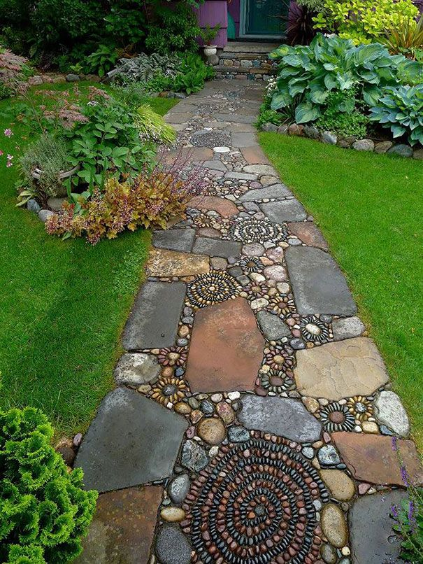 From Random Stones To One Of A Kind Walkway Home