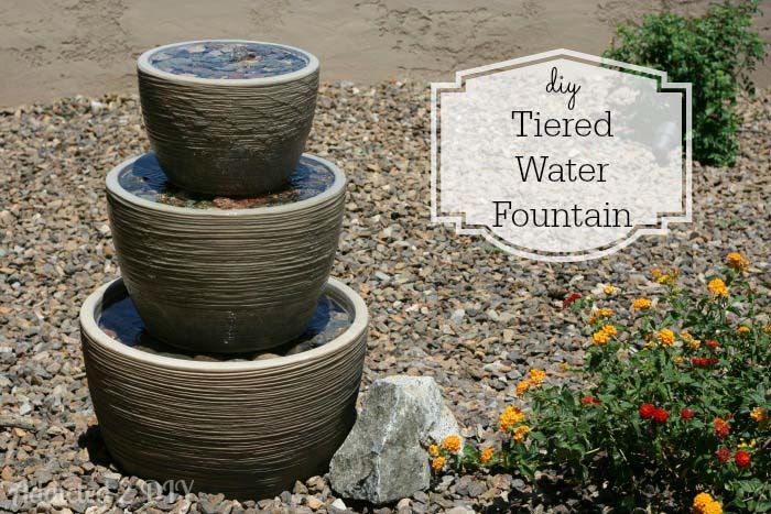 Inexpensive Tiered Water Fountain #diywaterfountain #decorhomeideas