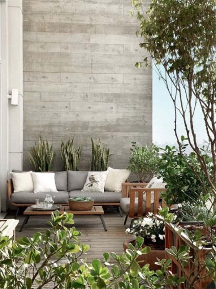 Outdoor Living Room #balconygarden #decorhomeideas