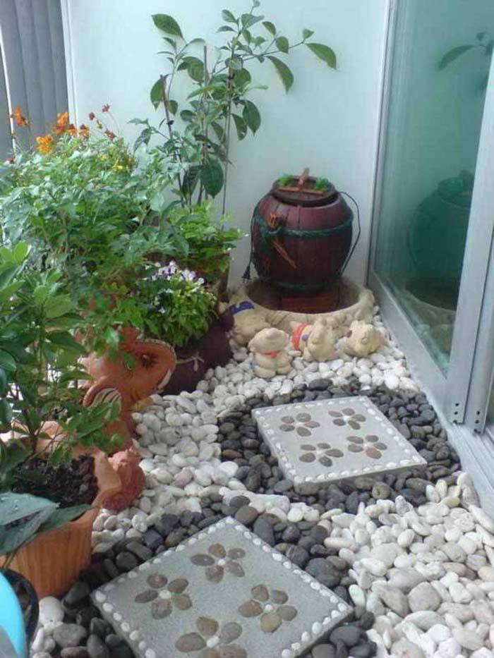 Stepping Stones #balconygarden #decorhomeideas