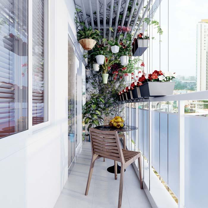 The Hanging Garden #balconygarden #decorhomeideas