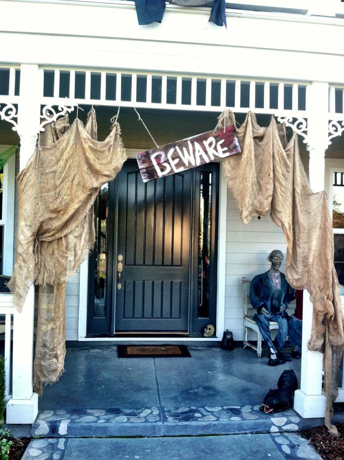 1. 100-Year-Old House Untouched for Years #frontporch #halloween #decorhomeideas
