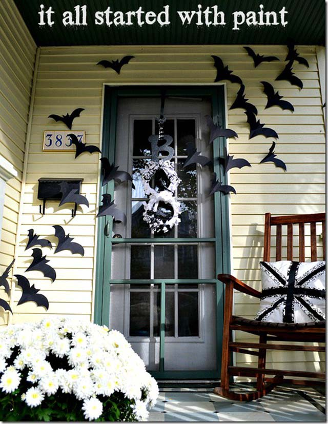 4. Beautiful Bats As Long as They Are Paper #frontporch #halloween #decorhomeideas