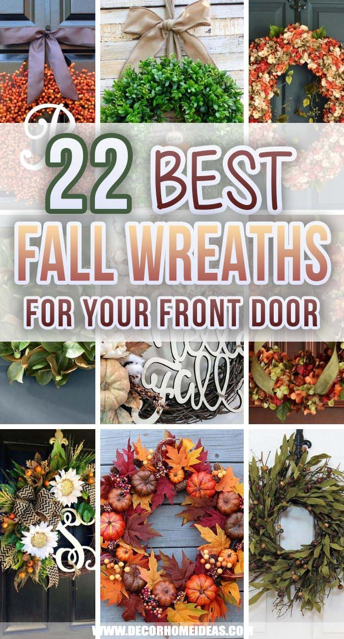Best Fall Wreaths Ideas. When celebrating fall you should have the best possible decoration and that's why these fantastic fall wreaths are here for you! #decorhomeideas