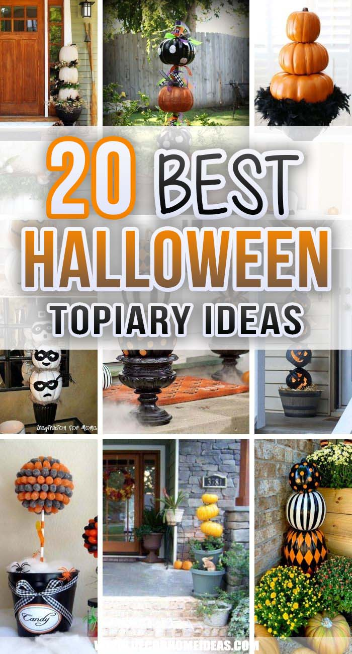 Best Halloween Topiary Ideas. Decorating your front porch for Halloween could be tricky,  but with these Halloween topiary ideas, you can add an instant seasonal curb appeal. #decorhomeideas