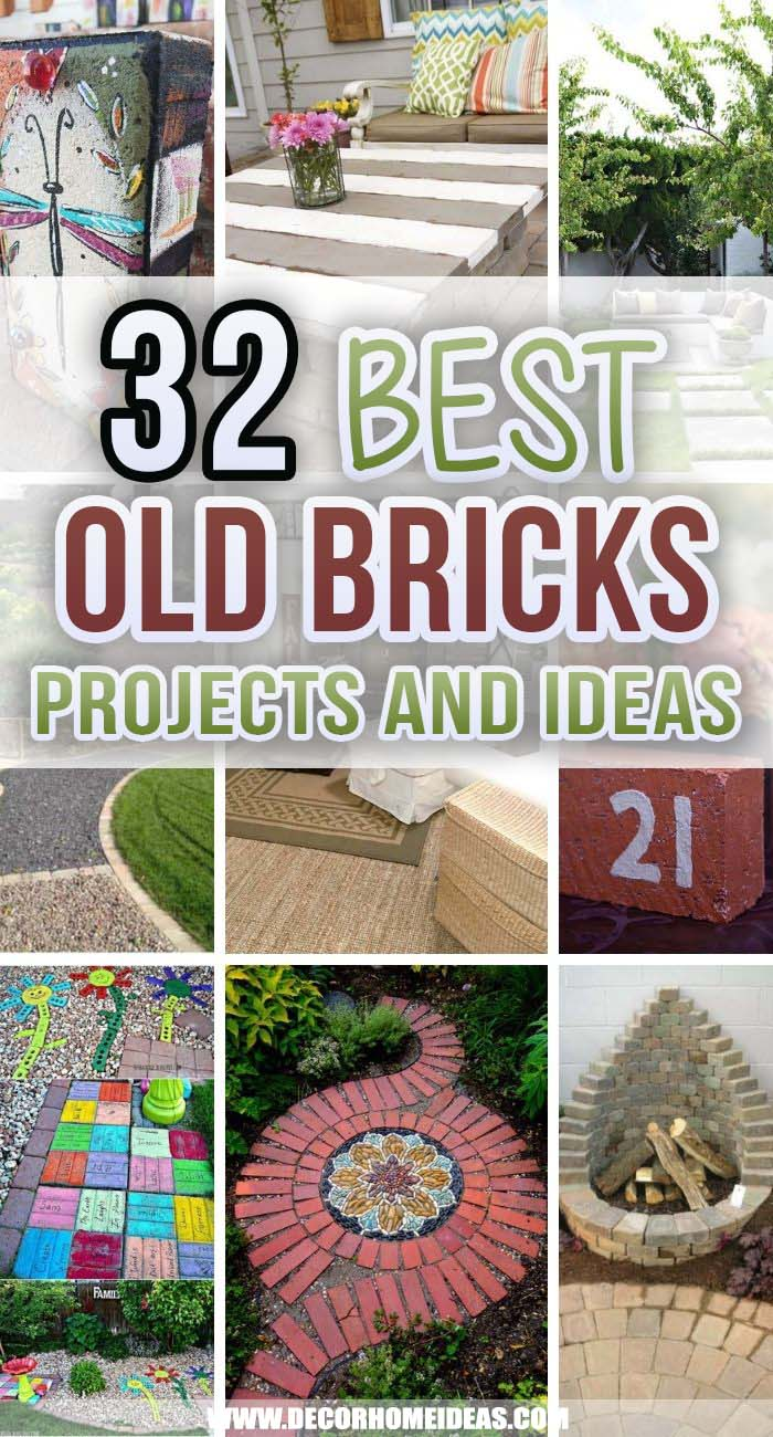 Best Old Brick Ideas And Projects. If you are in doubt about what to do with that pile of old leftover bricks in your backyard we've got you covered! These creative old brick ideas are what you need! #decorhomeideas