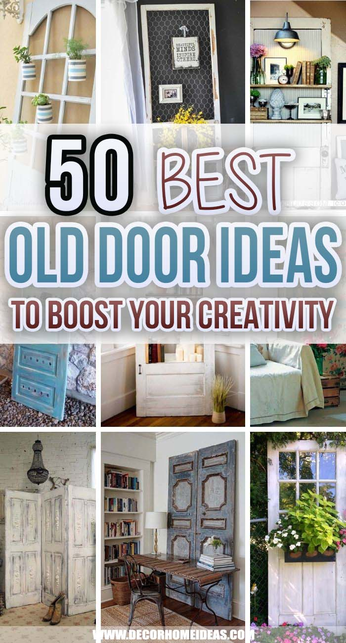 Best Repurposed Old Door Ideas. Old doors could be transformed into beautiful pieces of furniture and decorations. Check out these repurposed old door ideas for inspiration. #decorhomeideas
