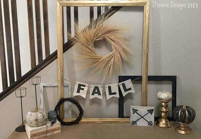 19. Hand-Lettered Paper Fall Banners #rusticfall #decorhomeideas