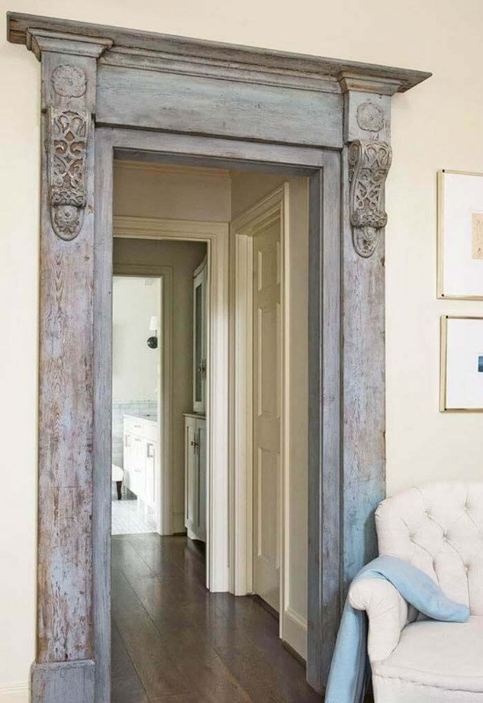 Ornate Victorian Mill Work Door Frame #repurpose #olddoors #decorhomeideas