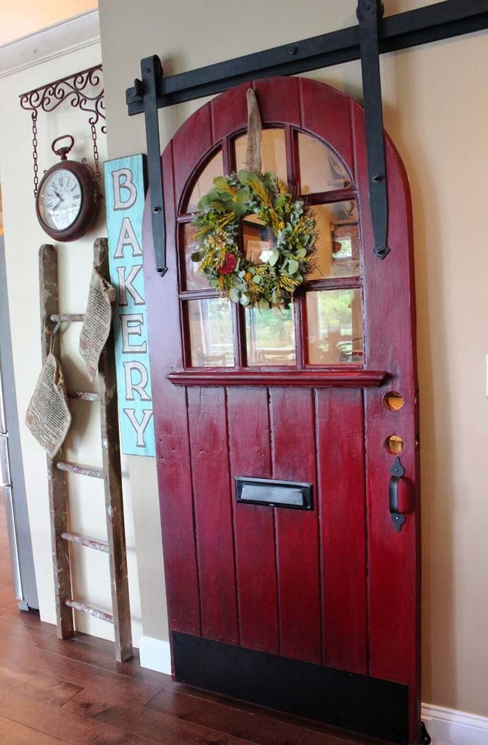 Round Top Door Lends Magic and Mystery #repurpose #olddoors #decorhomeideas