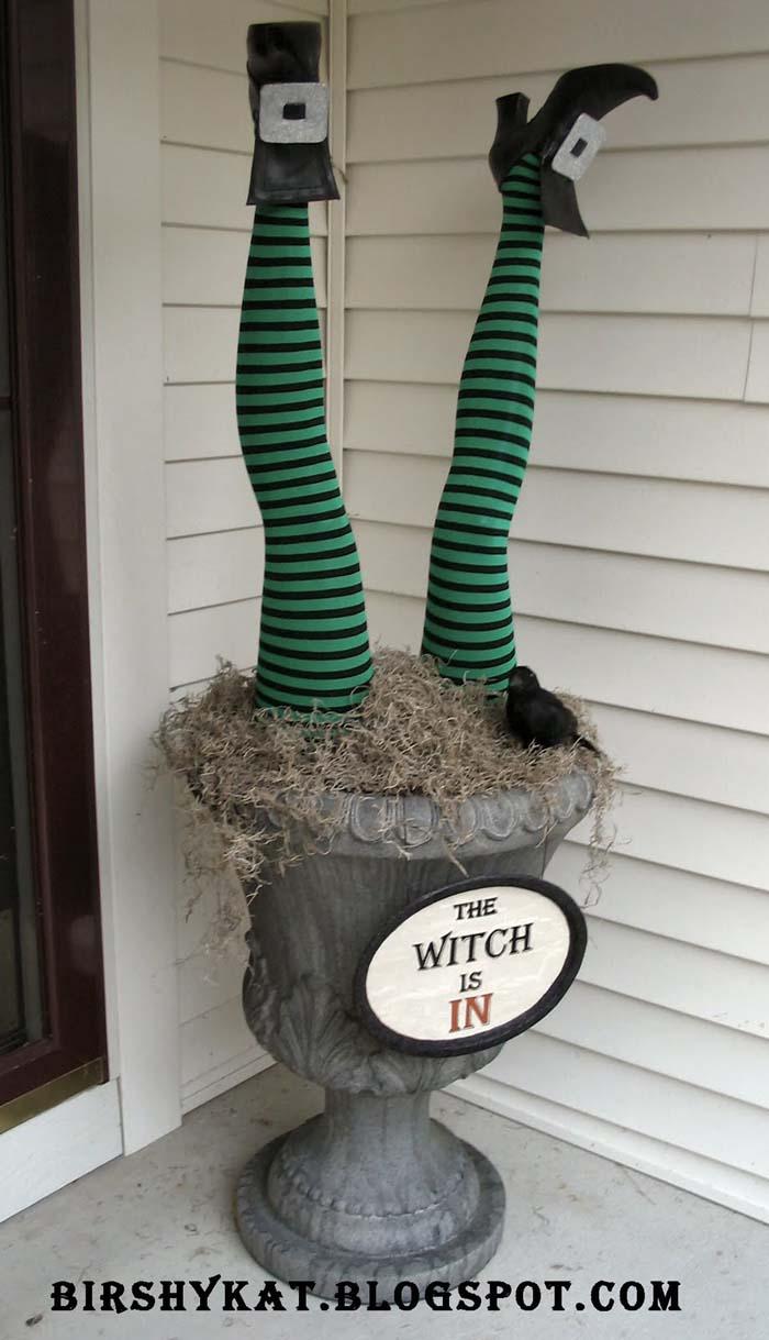 66. Witch in the Urn #frontporch #halloween #decorhomeideas
