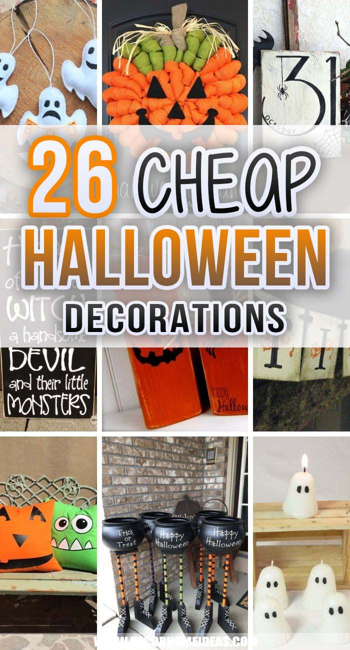 Best Budget Friendly Halloween Decorations. These are the most awesome budget-friendly Halloween decorations that you can possibly imagine! They are easy and fun to do and prepare your home for the holiday without breaking the bank. #decorhomeideas