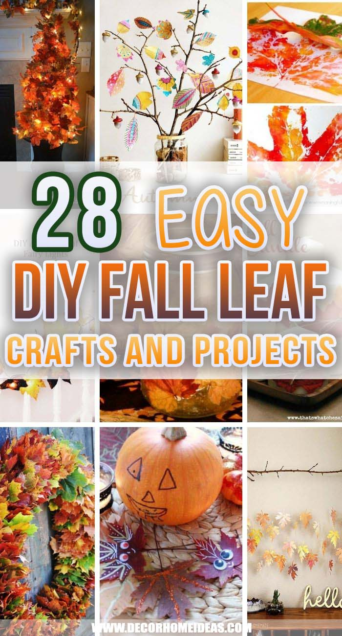 Best Fall Leaf Crafts. Make some DIY fall leaf crafts with your kids to feel the warmth of the autumn and inspire them to be creative. #decorhomeideas