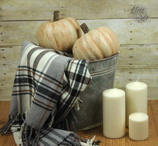 12. Distressed Dollar Store Pumpkins With A Crackle Finish #dollarstore #falldecor #diy #decorhomeideas
