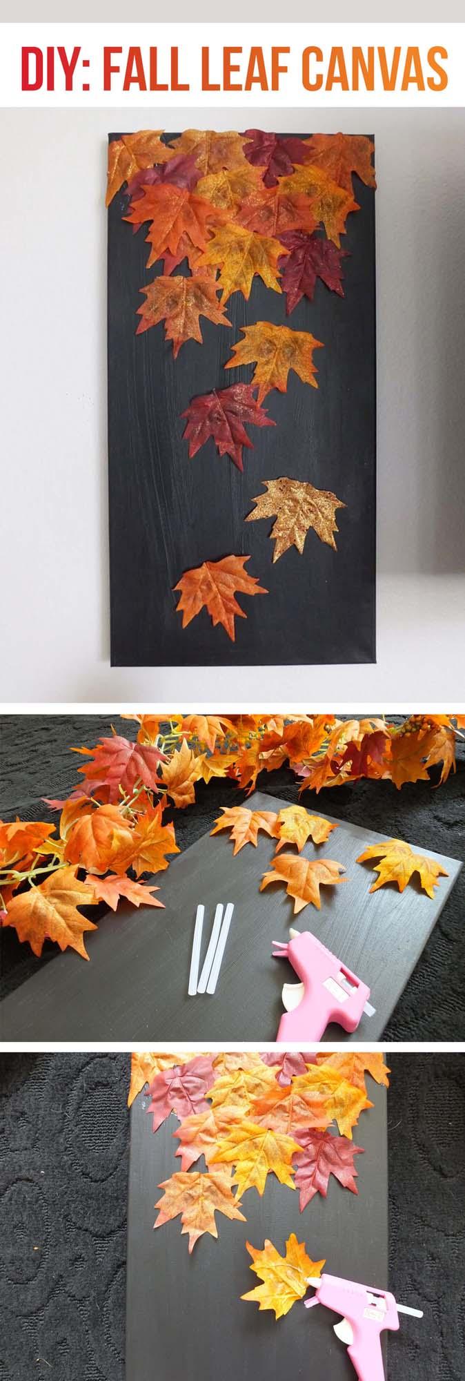 15. Fall Leaf Art for Instagram Backdrop #fall #leaf #crafts #decorhomeideas