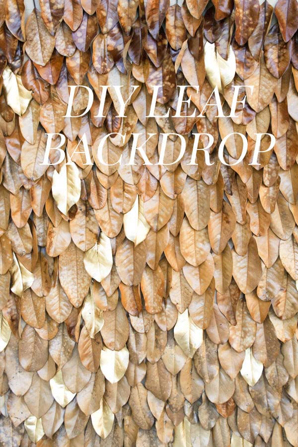 19. How to Make a Wall of Leaves #fall #leaf #crafts #decorhomeideas